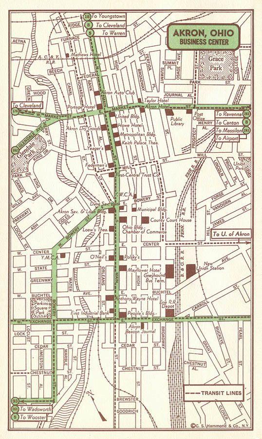 44 best original maps images on pinterest city maps antique akron map decor akron street map akron wall art akron antique map sciox Images