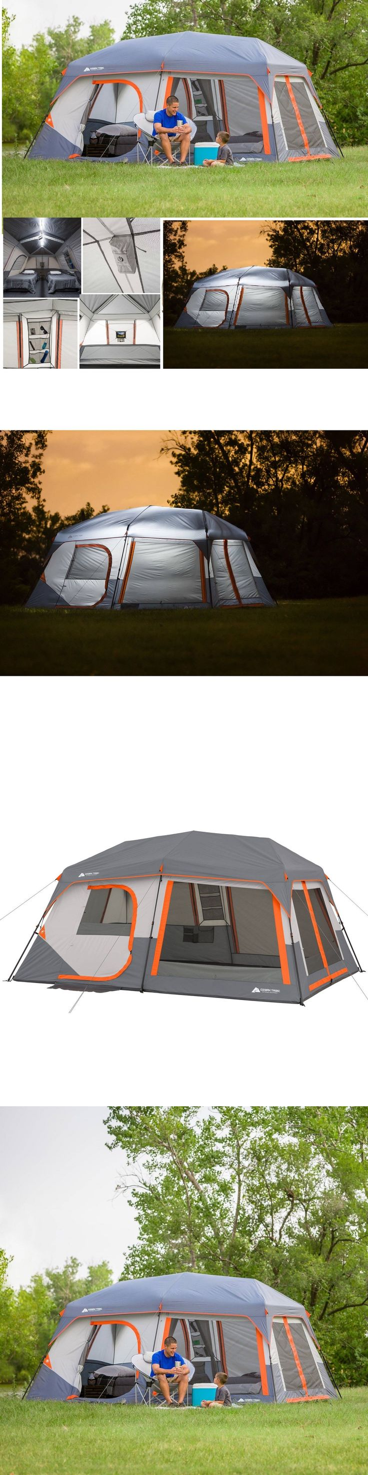 Tents 179010: Ozark Trail 10 Person 2 Room Instant Cabin Family Camping Tent W Led Light Pole -> BUY IT NOW ONLY: $228.97 on eBay!