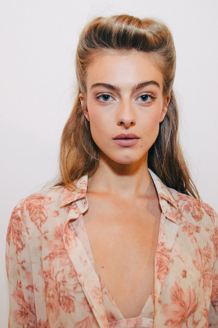 Behind the scenes at the Brock Collection show during New York Fashion Week. Photographed by Driely S.