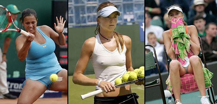 Check Out Our Pick Of The 12 Best Wardrobe Malfunctions And Oops Moments From The World Of Female Tenni Tennis Players Female Volleyball Outfits Tennis Players