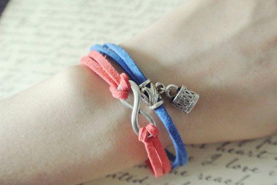 CUSTOM leather cord wrap bracelet, charm bracelet, infinity bracelet, faux suede cord wrap bracelet