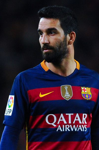 Arda Turan of FC Barcelona looks on during the Copa del Rey Round of 16 first leg match between FC Barcelona and RCD Espanyol at Camp Nou on January 6, 2016 in Barcelona, Catalonia.