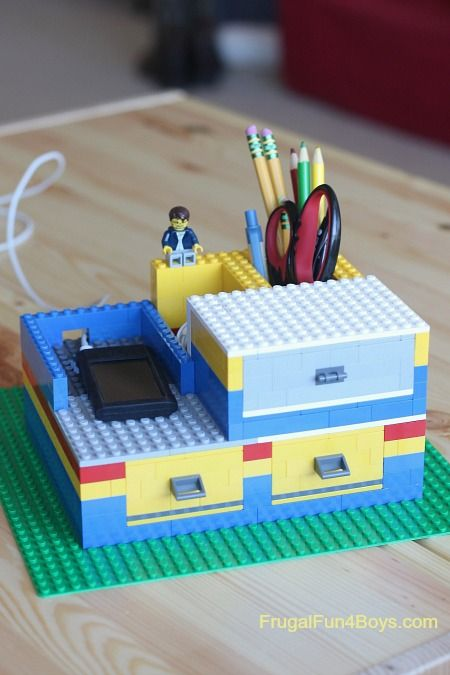 Learn how to create a functional DIY LEGO desk organizer. It will keep your pencils tidy and liven up any homework session.