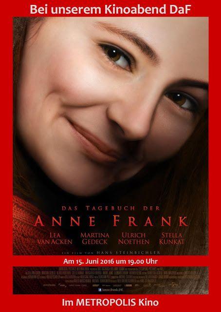 DAS TAGEBUCH DER ANNE FRANK am 15.6.2016 bei #DaF im #METROPOLIS #Kino #Hamburg.
