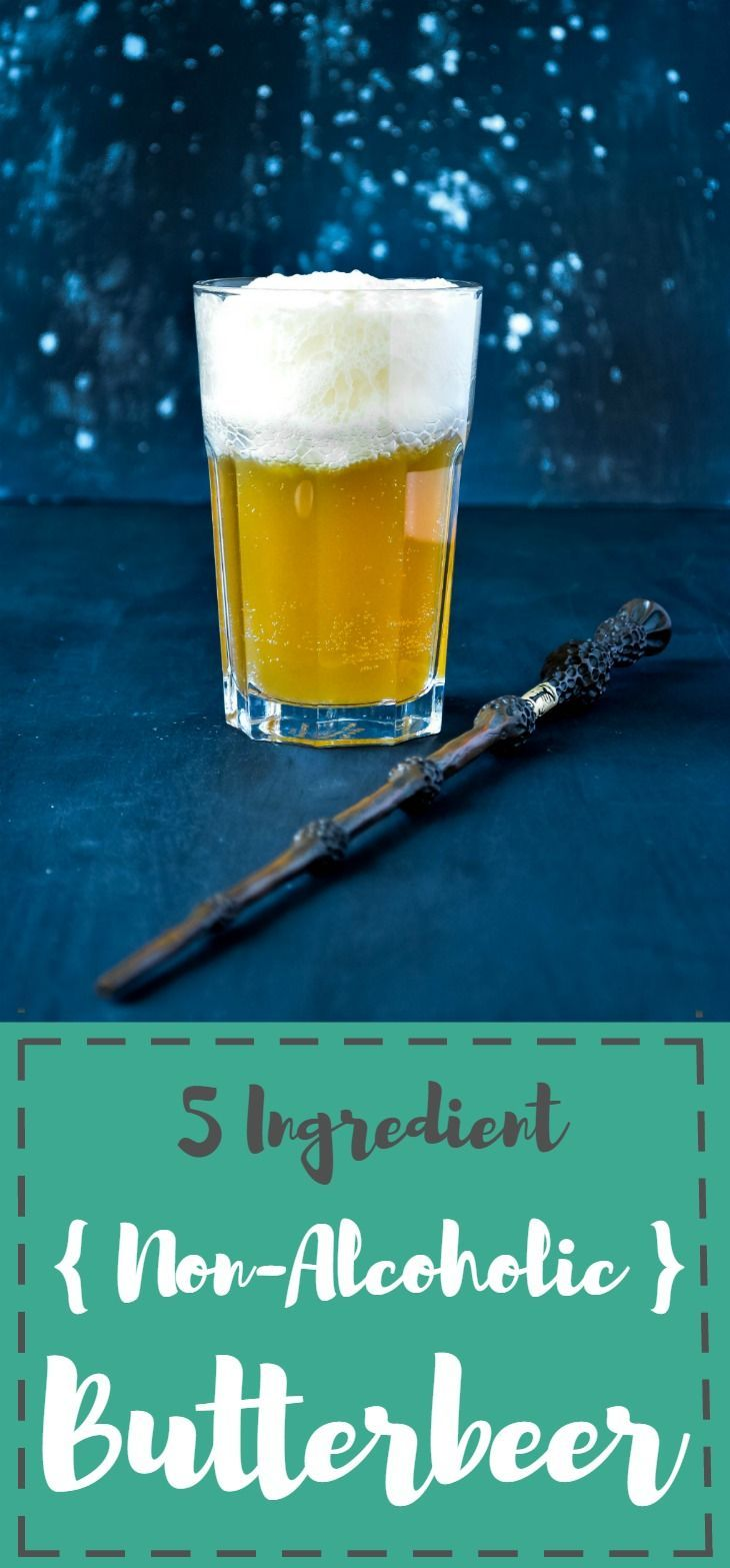 Bring a little magic to your muggle kitchens with this 5 ingredient Non-Alcoholic Butterbeer. Almost as good as the 'real deal' served at Harry Potter World