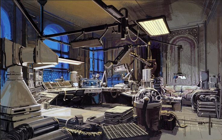 Blade Runner Matte Painting | Syd Mead.
