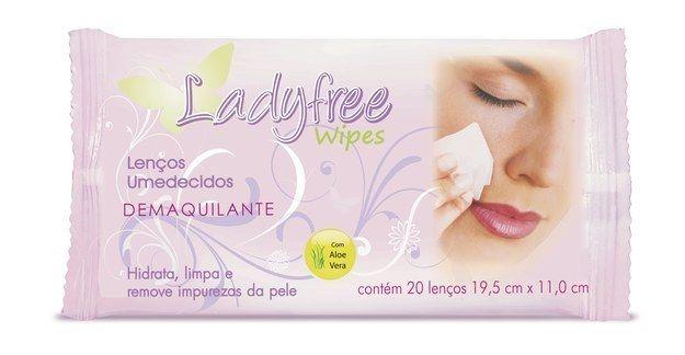 Lenço demaquilante LadyFree.