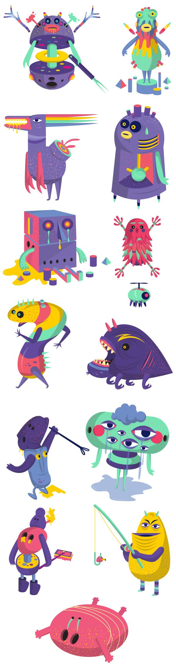 Offf Barcelona 2013 by David Pocull, via Behance