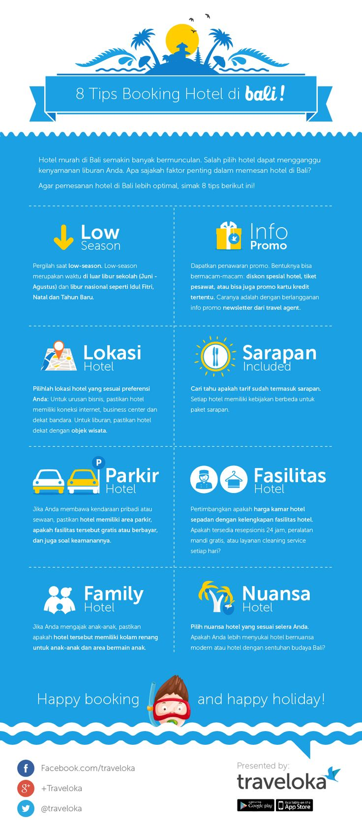 Tips Booking Hotel Di Bali Infographic
