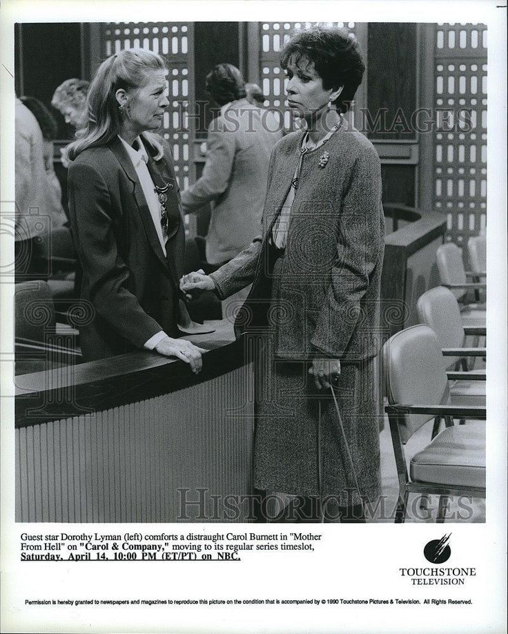 "1990 Press Photo Dorothy Lyman & Carol Burnett star ""Carol & Company"""