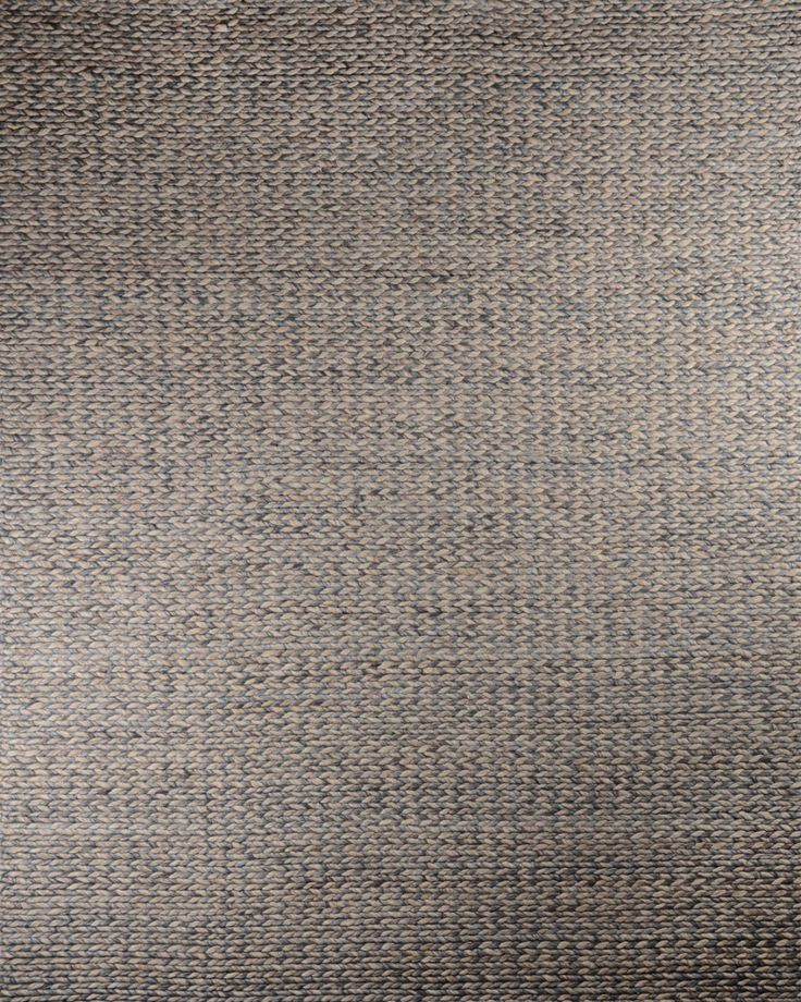 Platted Sky Blue 100 Wool Hali Rugs