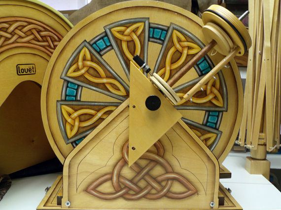 Louet s40 Hatbox Celtic Knot Custom Painted by BadfaerieDesigns, $2675.00