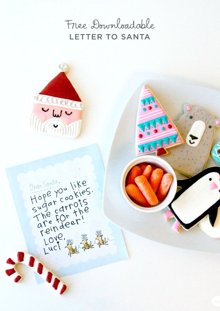 Free downloadable Santa letter template | Printable