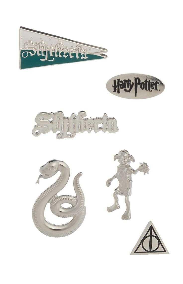 Primark - Harry Potter 6PK Slytherin Badges