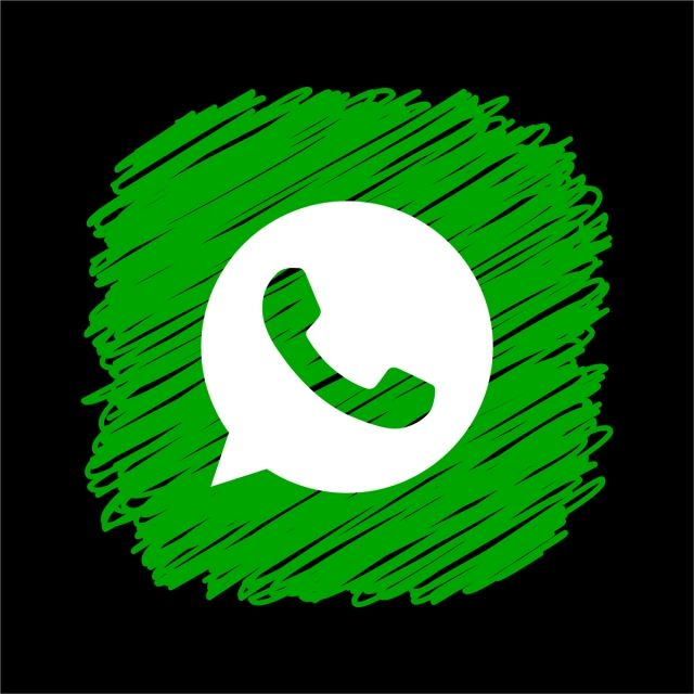 Whatsapp Scribble Square Icon, Whatsapp Icon, Whatsapp Logo
