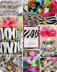 ZEBRA PARTY: Party'S, Parties, Party Stuff, Zebra Party, Party Ideas, Birthday Ideas, Birthday Party