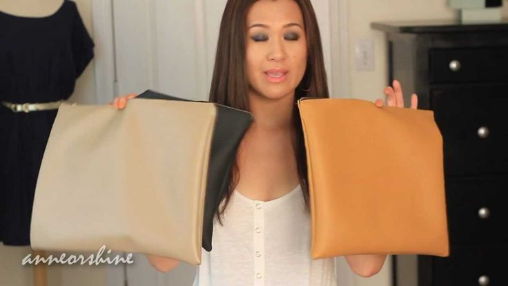 DIY Clutch American Apparel Leather Pouch How to Make