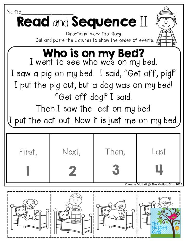 Read and Sequence- Short stories to help children practice identifying the order of events. TONS more activities in the NO PREP Packet for January!                                                                                                                                                                                 More