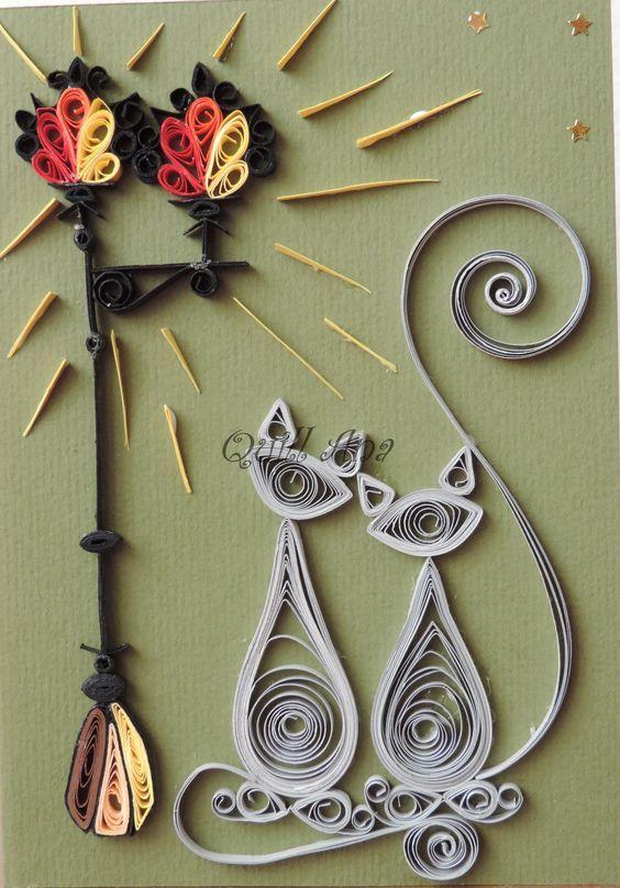 Квиллинг ( англ. quilling ; от quill «птичье перо»),также известен как бумагокручение — искусство изготовления плоских или объёмных композиций из скрученных в спиральки длинных и узких полосок бумаги. Искусство бумагокручения возникло в конце XIV— начале XV веков…