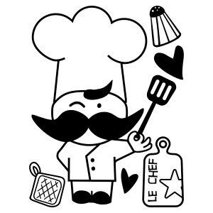 Chef estrella- Vinilo Decorativo Cocina