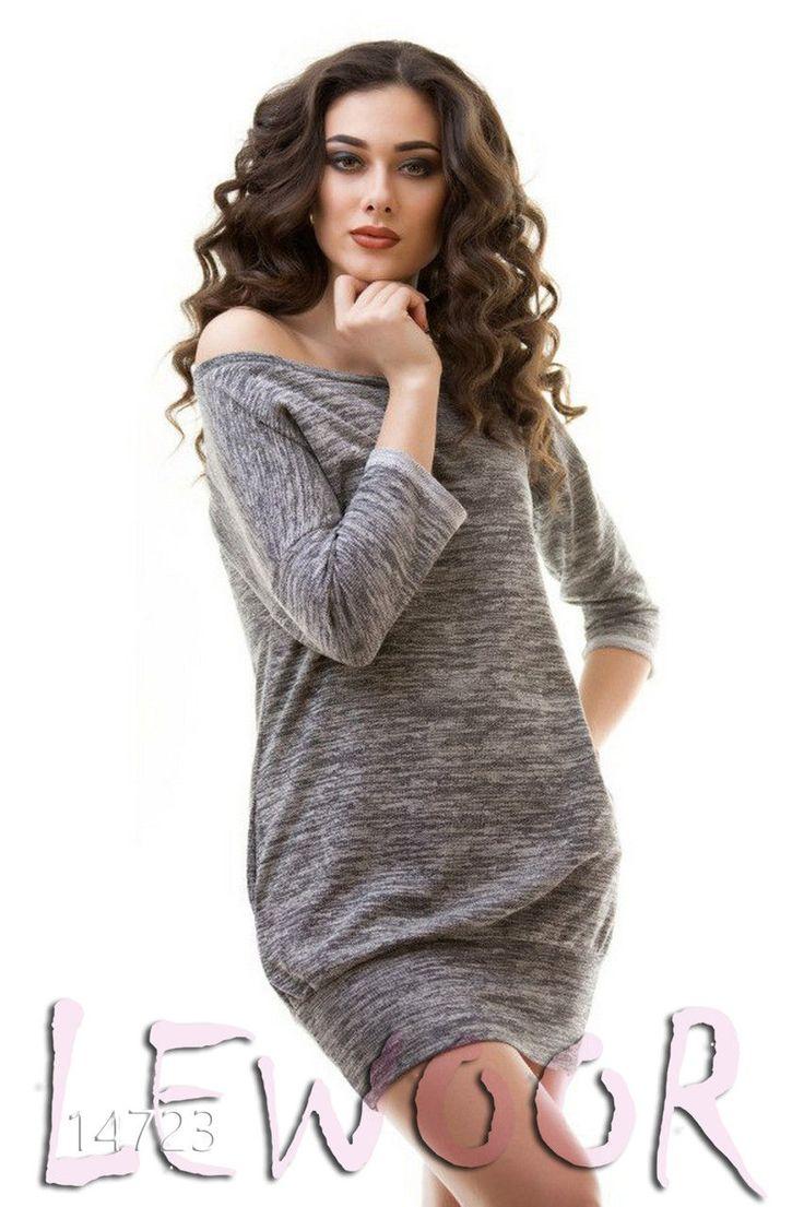 Платье - туника на широкой резинке с рукавом 3/4 - купить оптом и в розницу, интернет-магазин женской одежды lewoor.com