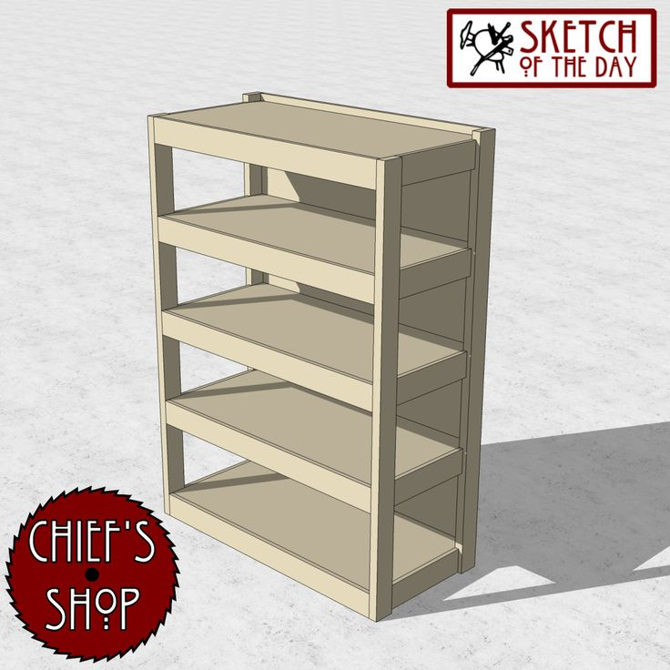 A shop storage design concept. Be sure to like Chief's Shop on Facebook! Make Some Sawdust! Chief