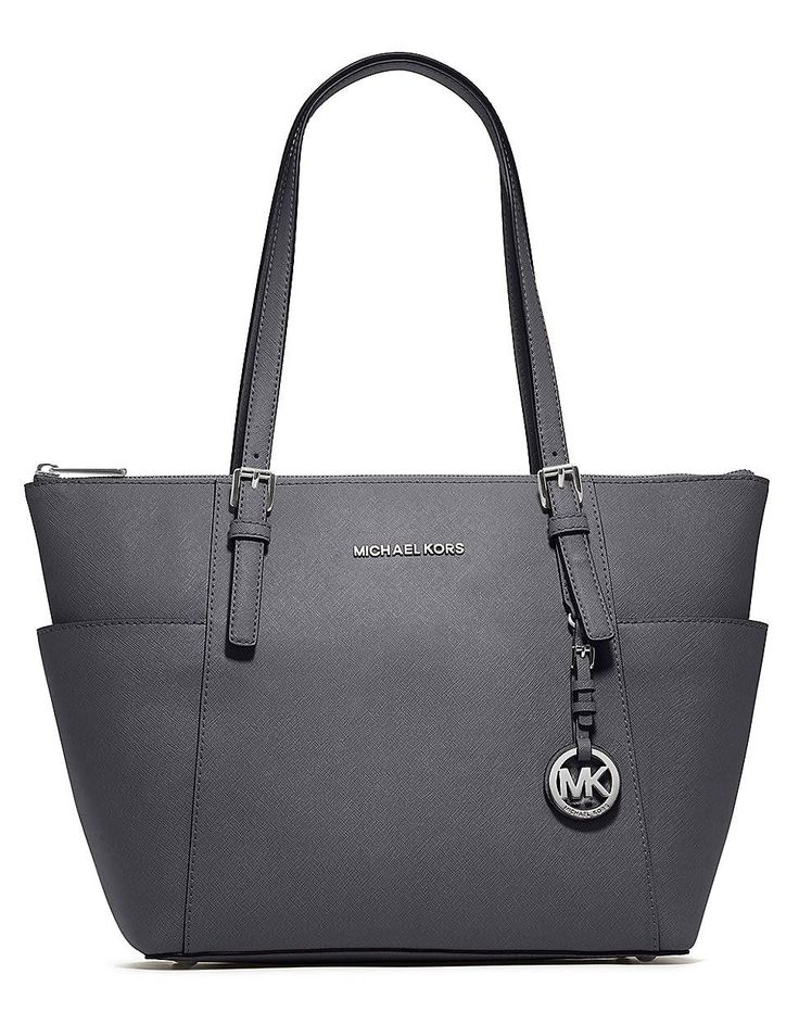 Michael Michael Kors Jet Set Leather East/West Tote Bag DARK SLATE