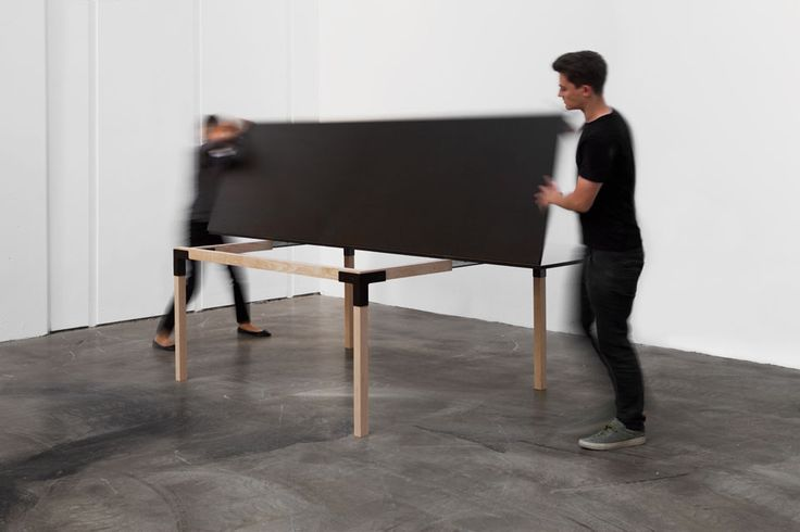 Narrow - base extends, table top folds out to full size - Brilliant! Pull-Pong_MG_0768_20150819_WD