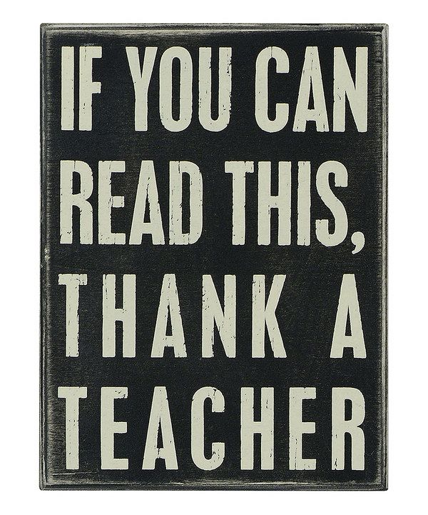 Take a look at this 'If You Can Read' Box Sign on zulily today!