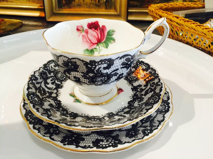 vintage china trio, Royal Albert Bone China,  Design name Señorita.  Currently on shop floor. For more details please visit our Facebook page https://www.facebook.com/Whatever-at-Willunga-118129198383581/timeline/ or our website.