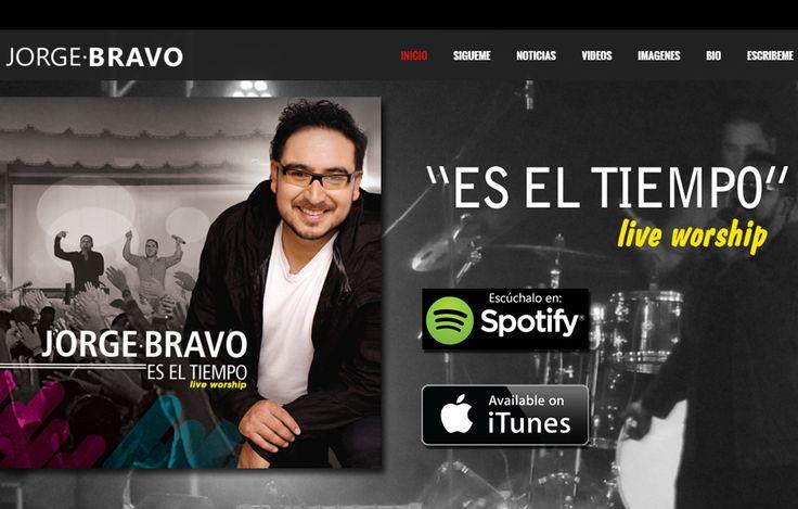 Sitio web www.jorgebravo.com para el cantante Jorge Bravo. Versión 2016.