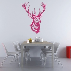 MOOSE HEAD - WALL DECAL (comes in 17 dif colors)
