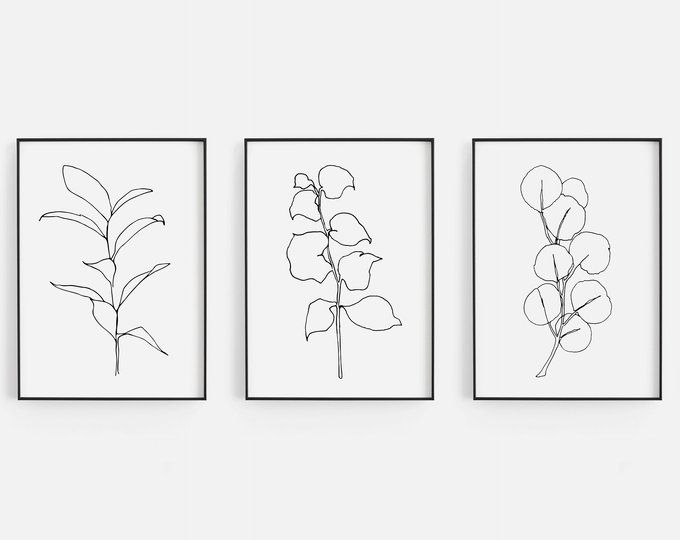 Black Botanical Prints Set Leaf Prints Black Botanical Wall Art Black Leaf Print Set Large Leaves Etsy Art Prints Botanical Art Prints Botanical Wall Art