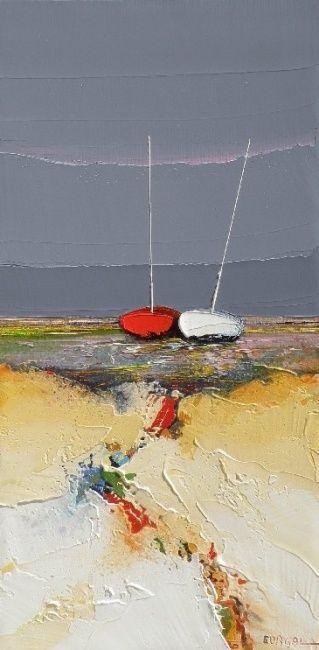 le couple (Painting), 30x60 cm par Christian Eurgal