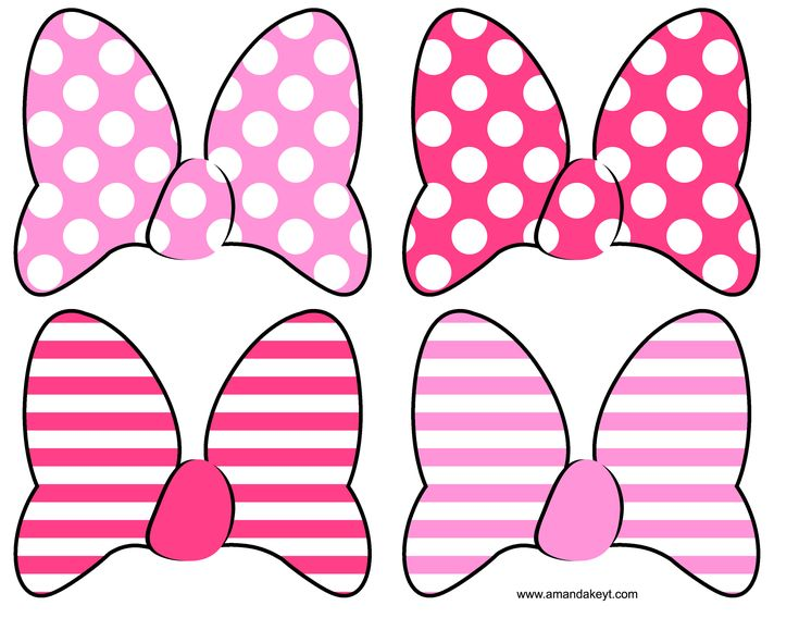 Instant download minnie mouse clubhouse inspired printable for Free printable minnie mouse bow template