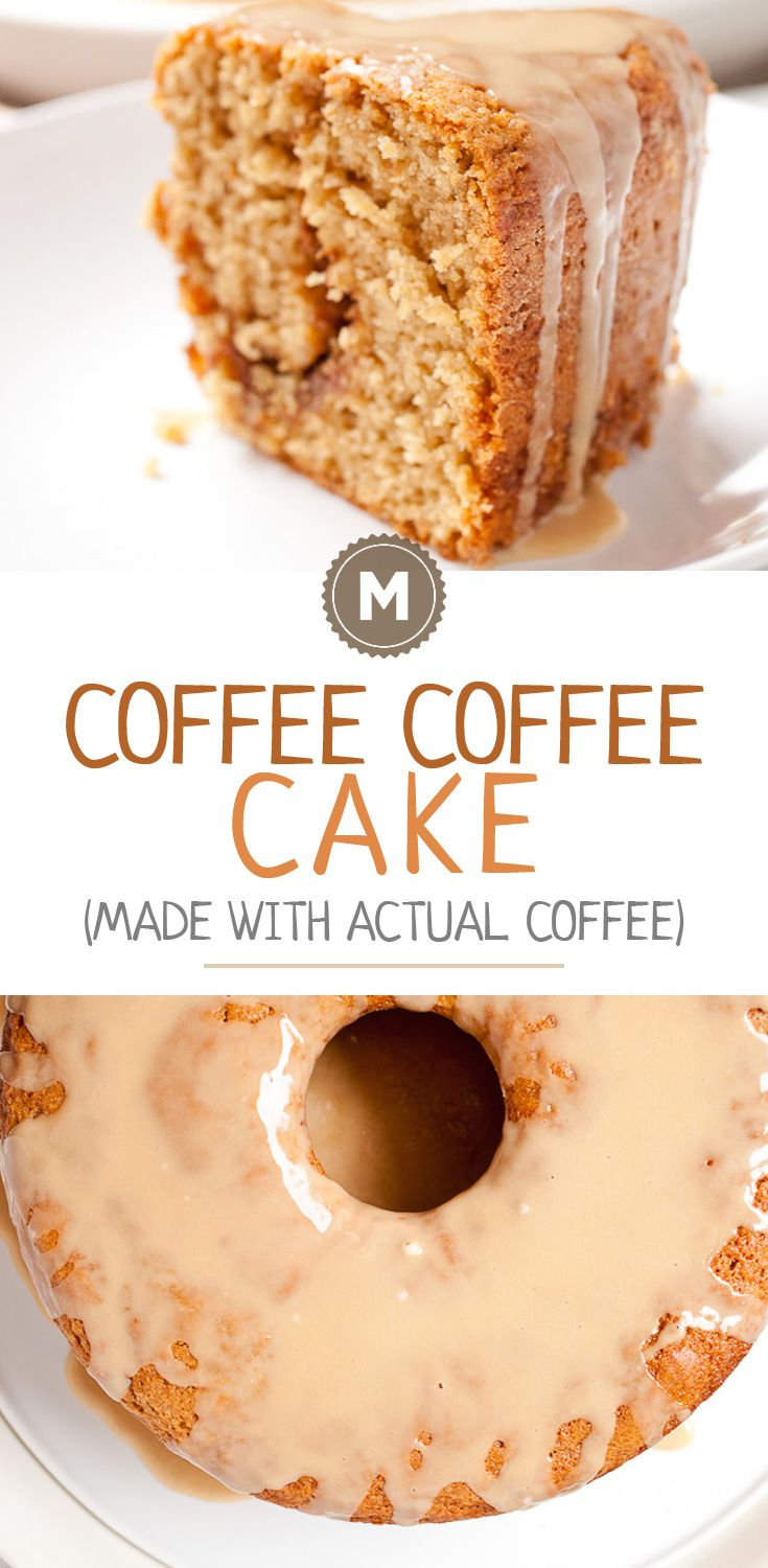Coffee Coffee Cake: It has always been a bit confusing to me that most coffee cakes don't have coffee in them. This version not only is perfect with coffee, but is made with coffee for an extra flavor kick!