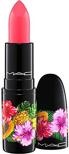 MAC FRUITY JUICY COLLECTION LIPSTICK / LOVE AT FIRST BITE. New Mac Fruity Juicy Collection COLOR: LOVE AT FIRST BITE Bright fuchsia Amplifed. A Lipstick in lip-smacking beige, fuchsia and violet shades. Go bananas in lip-smacking beige, fuchsia and violet Lipsticks. Four shades, four textures. Special packaging with tropical fruit and floral print.