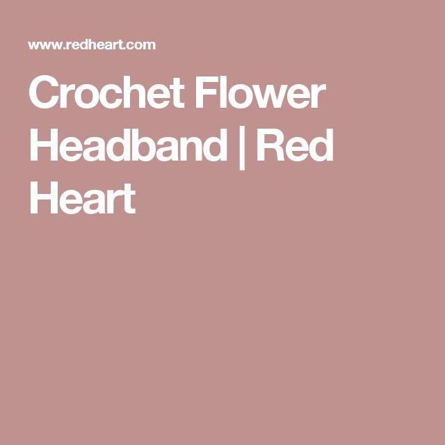 Crochet Flower Headband | Red Heart
