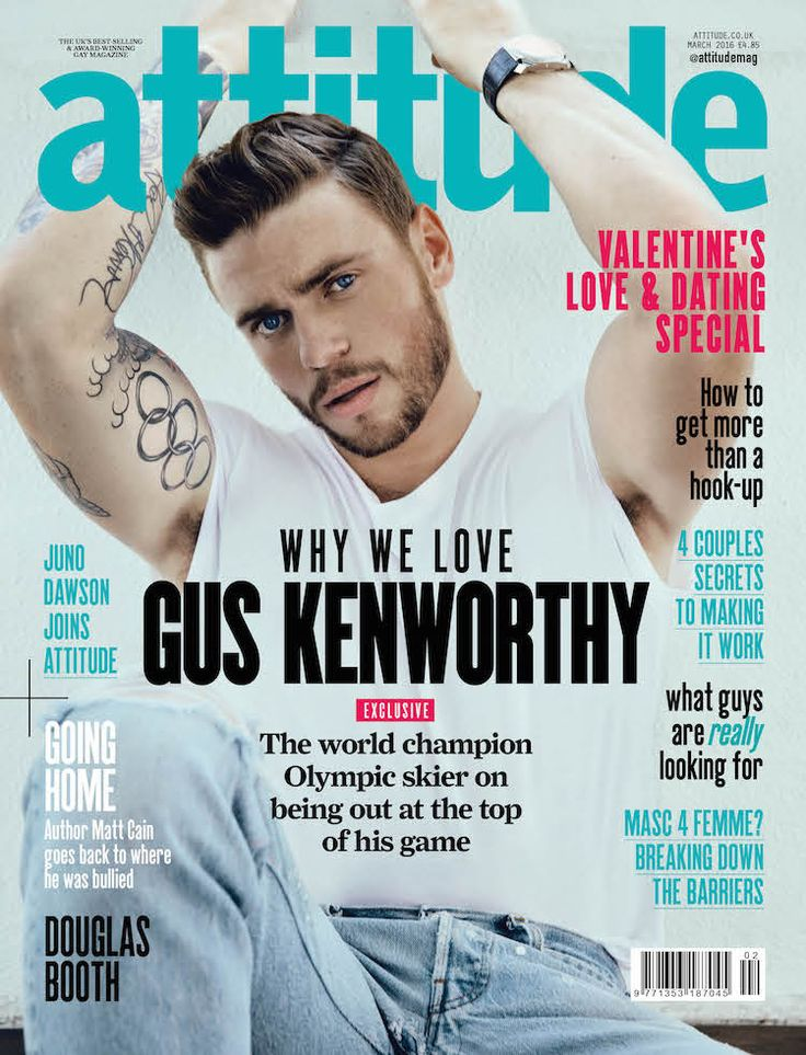 Jan. 29, 2016 - Out.com - Olympic skier Gus Kenworthy graces cover of Attitude magazine