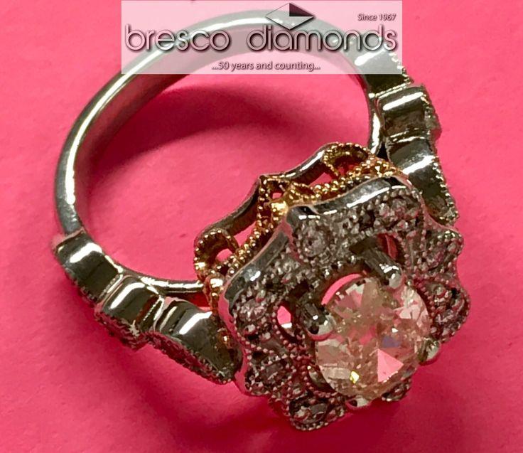 #engagementring #whitegold, #rosegold, #ovaldiamond & #meleediamonds