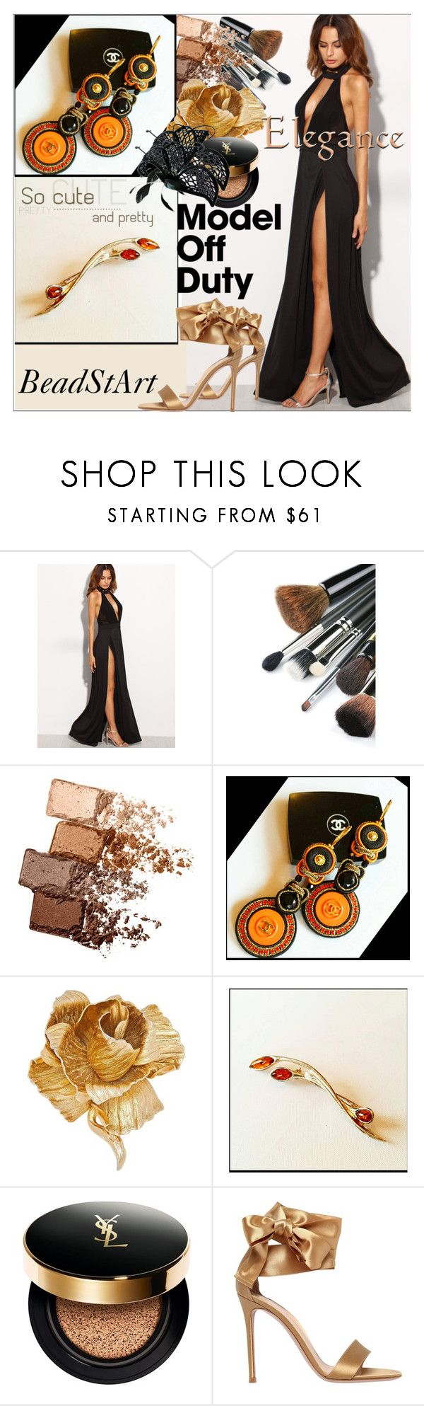 """""""BeadStArt(the best shop)#11"""" by sabahetasaric ❤ liked on Polyvore featuring Maybelline, Chanel, Christian Dior, Yves Saint Laurent, Gianvito Rossi and modern"""