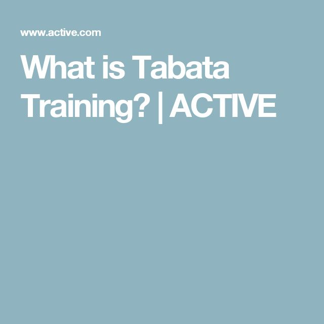 What is Tabata Training? | ACTIVE