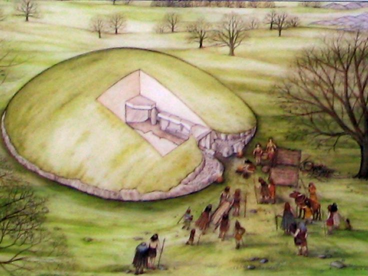 A representation of the Burial Chamber at Bryn Celli Ddu, Anglesey