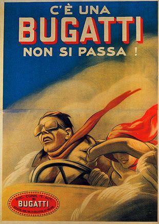 Bugatti - Marcello Dudovich 1922 http://www.flickr.com/photos/kraftgenie/4810201554/