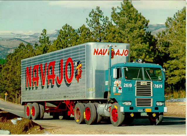 DIAMOND T 93KN-3D 1968-1975 we ran the West coast from Chicago for the Blue Eyed Indian, NAVAJO was a premier speciality transport company for many years. Roy Farthing Trucking led the way for modern day Waffco Towing. I've been here the whole time.