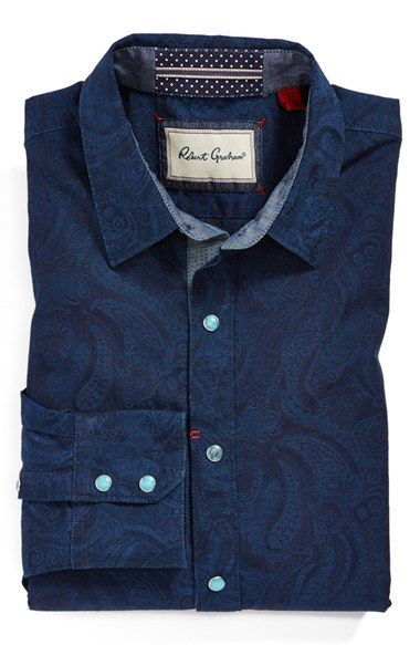 Robert Graham 'Travis' Tailored Fit Sport Shirt | Nordstrom