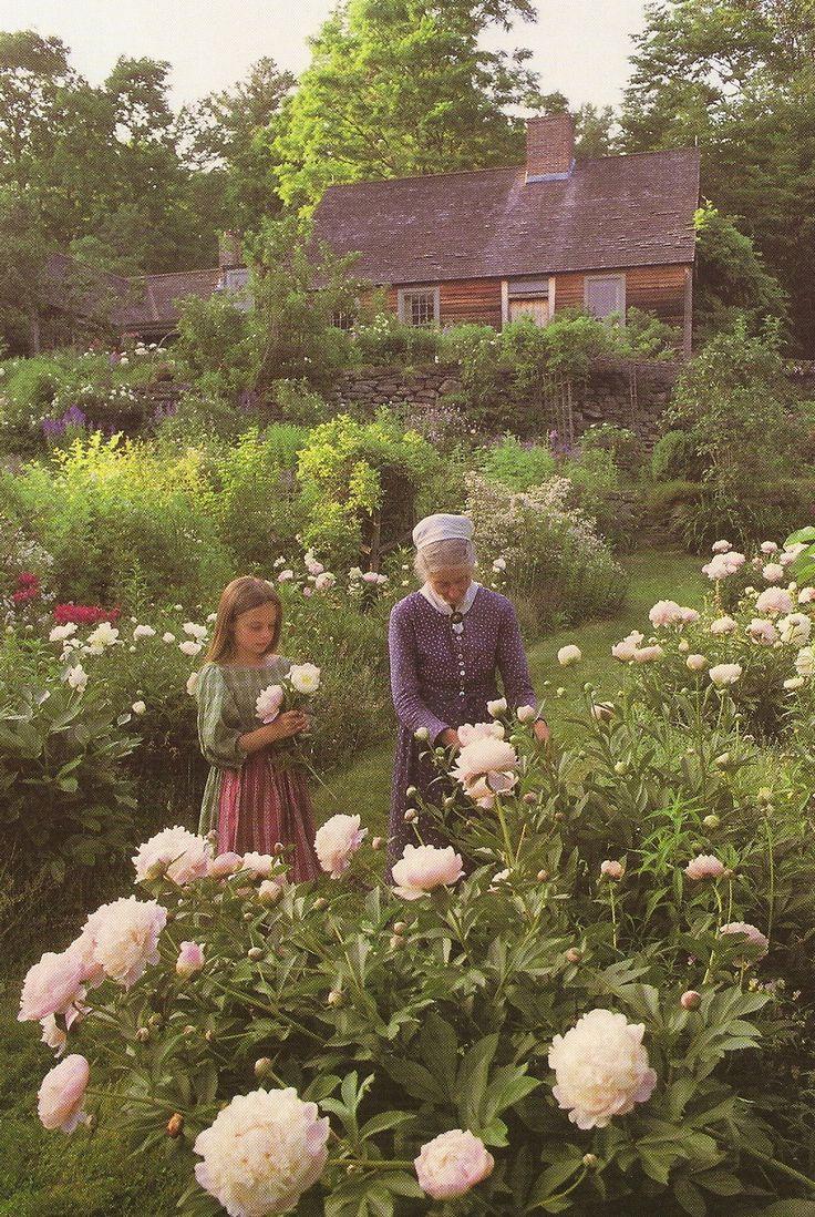 Peony glory in Tasha Tudor's VT garden