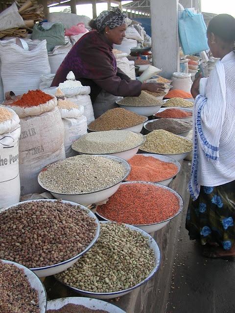 Asmara, mercato delle spezie