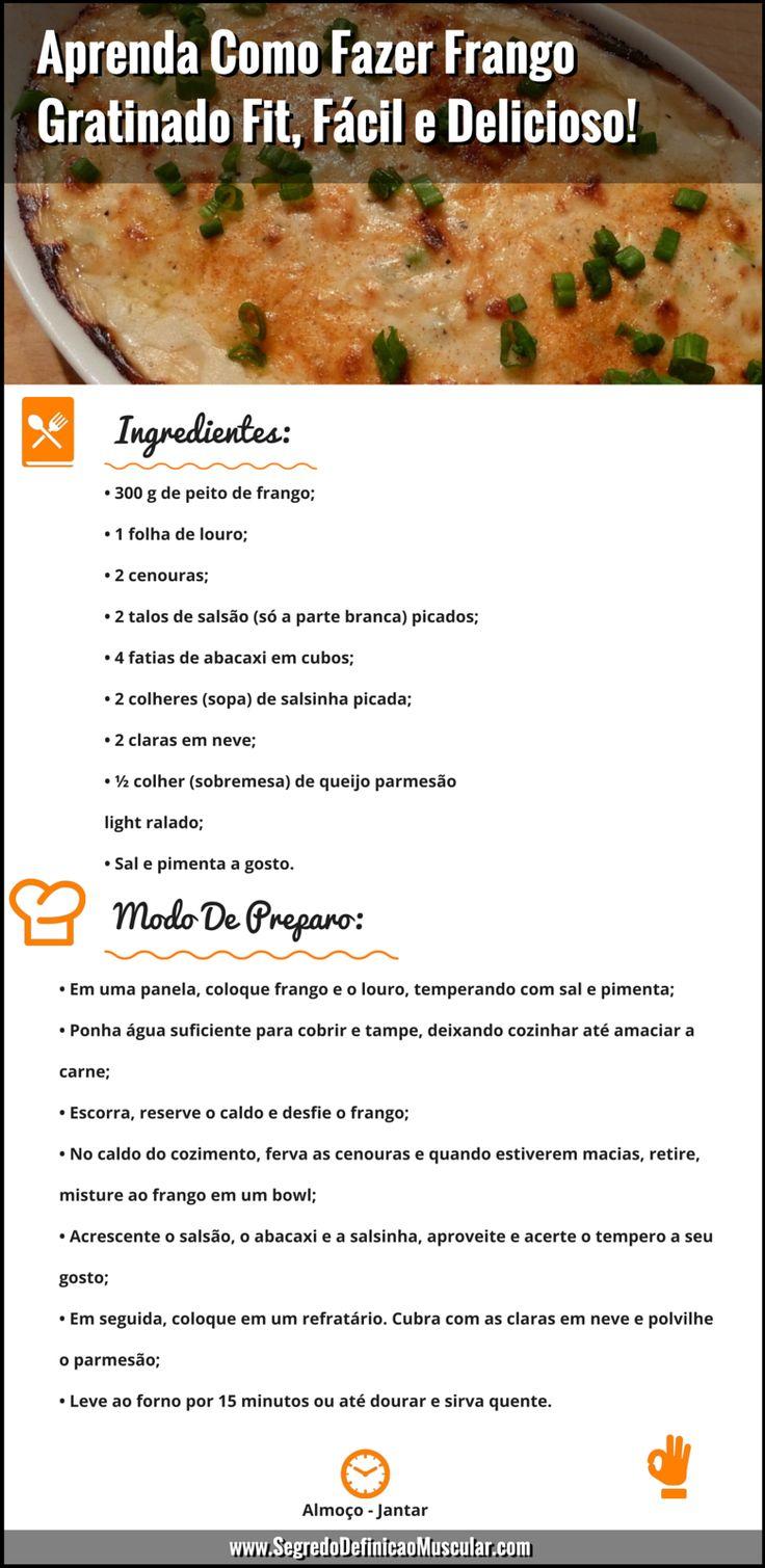 Aprenda Como Fazer Frango Gratinado Fit, Fácil e Delicioso!