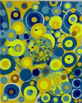La primera obra de Gabino Amaya Cacho utilizando puntillismo abstracto